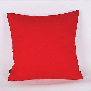 Capa de Almofada Sarja Lisa Vermelho- 45 x 45 cm
