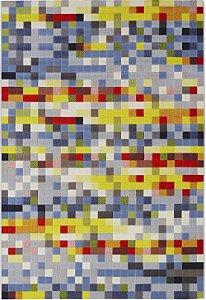 Tapete Pixel Colorido- Tapetes São Carlos