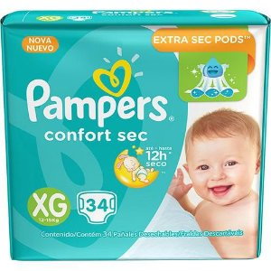 Pampers Confort Sec XG 34
