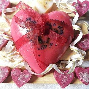 Sabonete Artesanal Coração Vermelho 190g
