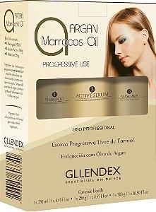 Progressive Lise Argan Marrocos Oil Gllendex - Kit 3 Produtos