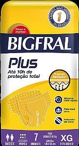 Fraldas Geriátricas Bigfarl Plus Adulto Extra Grande Com 7 Unidades