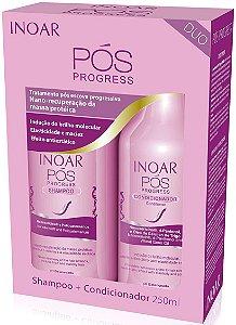 kit Inoar Pós Progressiva Shampoo 250ml e Condicionador 250ml
