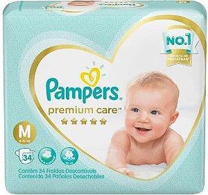 Fraldas Pampers Premium Care M 34 Unidades