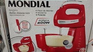 Batedeira Mondial Vermelha 400W Premium Bela Massa