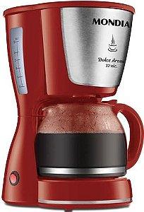 Cafeteira Elétrica Mondial Dolce Arome Vermelha 18 Xícaras 110v