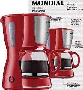 Cafeteira Elétrica Mondial Dolce Arome Vermelha 18 Xícaras de Café - 220v