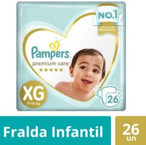 Fraldas Pampers Premium Care XG 26 Unidades