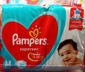 Fraldas Pampers Supersec M - 90 Unidades