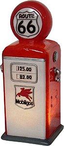 Luminária de LED Bomba de Combustível Branco / Vermelho - 26x11 cm