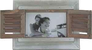Porta Retrato Provence Cinza em Madeira - 23x18 cm