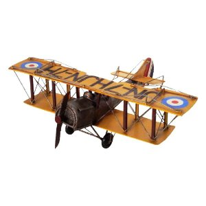 Miniatura Réplica Avião Bip 1925 Amarelo - 41,5x36 cm