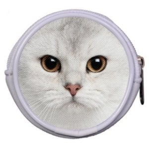 Porta Moedas ou Fone de Ouvido - Gato Branco