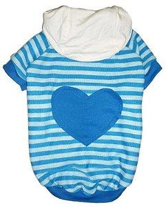 Casaco Coração Blue com Capuz