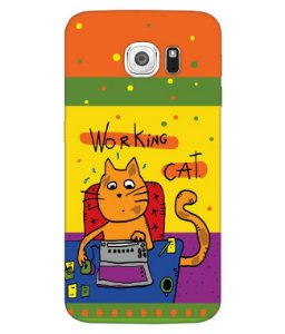 Capa de Celular - Working Cat