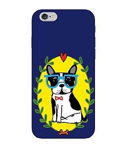 Capa de Celular - Bulldog Francês Azul