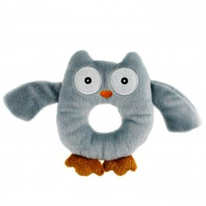Brinquedo para filhotes -Corujinha Cinza - NEW PUPPY AFP