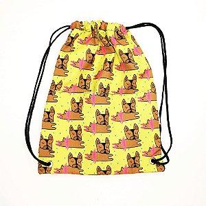 Mochilinha Multiuso Bulldog Bailarina