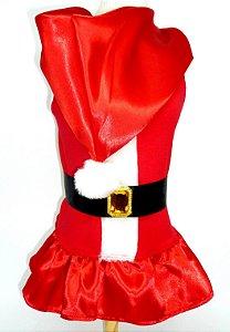 Vestido Mamãe Noel com Capuz