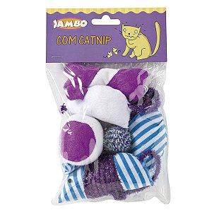 Kit com 6 Brinquedos para Gatos