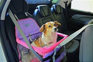 Cadeira de Cachorro para Automóvel - Várias Cores - Até 10kg