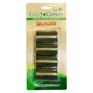 Cata Caca Eco Green - Biodegradável - 4 rolos com 20 sacos