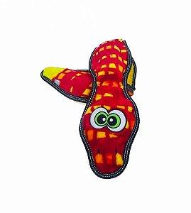 Brinquedo Resistente Cobra Vermelha - Linha Invincibles® Tough Seamz Snake
