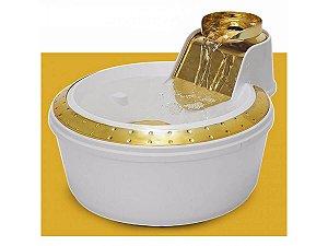 Fonte PetLon Premium Branco e Dourado - 2 litros