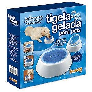 Tigela Gelada para Pets Grande - 1L