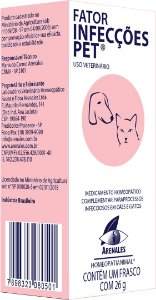 Fator Infecções Pet - Arenales - Homeopatia