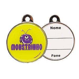 Plaquinha de Identificação - Monstrinho