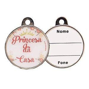 Plaquinha de Identificação - Princesa da Casa