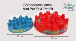 Comedouro Lento Pet Fit - Pequeno e Grande
