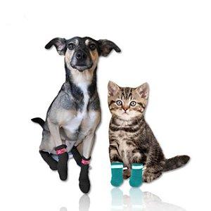 Meia Antiderrapante para Cachorro - Protetor de Patas