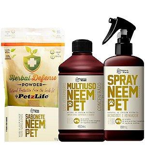 Kit Proteção Pet 2 - Contra Pulgas e Carrapatos