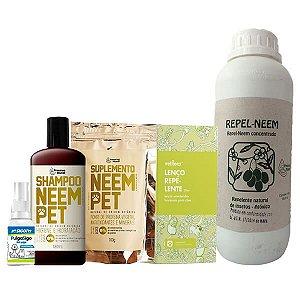 Kit Proteção Pet 3 - Contra Pulgas e Carrapatos