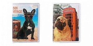 Porta Passaporte - Bulldog ou Pug