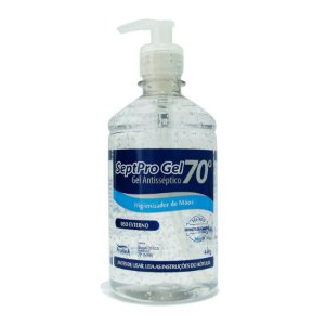 Álcool em Gel 70% Antisséptico 440g com Válvula Pump - Septpro