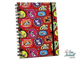 Caderno Espiral Bulldoguinhos