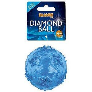 Bola com Apito Diamond Azul - Pequena e Grande