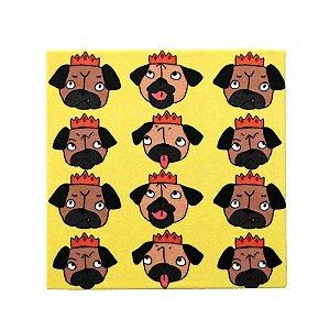 2 em 1 - Porta Copos com Ímã - Rei Pug
