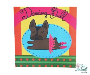 Quadrinho Decorativo - Bulldog Bailarina