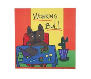 Quadrinho Decorativo - Working Bull