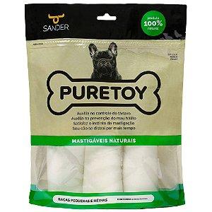 Embalagem com 4 Ossos Bovinos Mastigáveis Naturais - Raças Pequenas e Médias - Pure Toy
