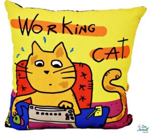 CAPA de Almofada Working Cat