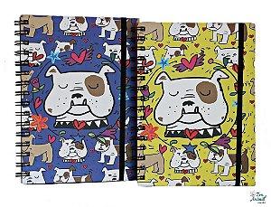 Caderno Espiral Bulldog Inglês