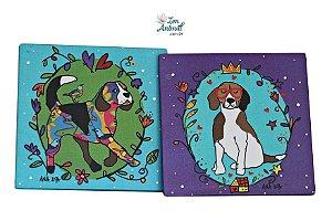 2 em 1 - Porta Copos com Ímã - Beagles