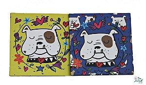 2 em 1 - Porta Copos com Ímã - Bulldog Inglês