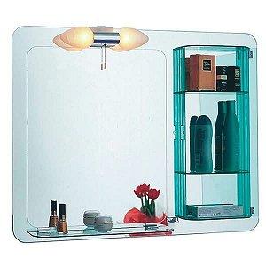 Espelheira de Banheiro com Luminária