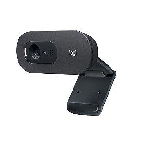 Webcam Logitech C505, Usb, Hd, 720P, Com Microfone, Preto, 960-001363